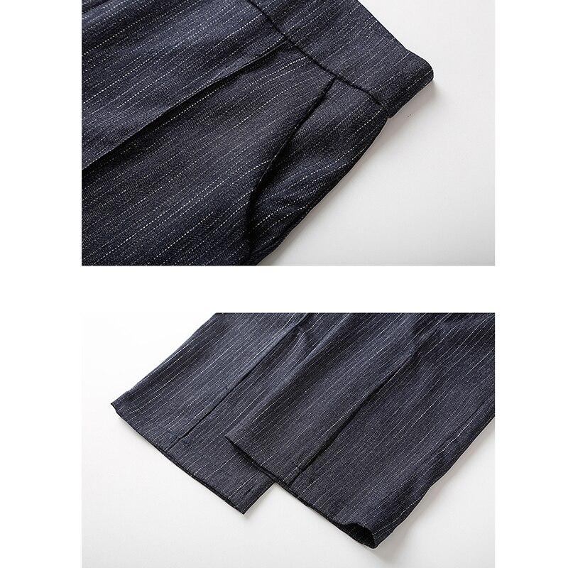 Veste Marine Ensemble Pantalon Costume Femmes Nouveau Formelle De Féminin Mince Blazer Mode Femme Bureau Ol Printemps Bleu D'affaires waxgxvHzq