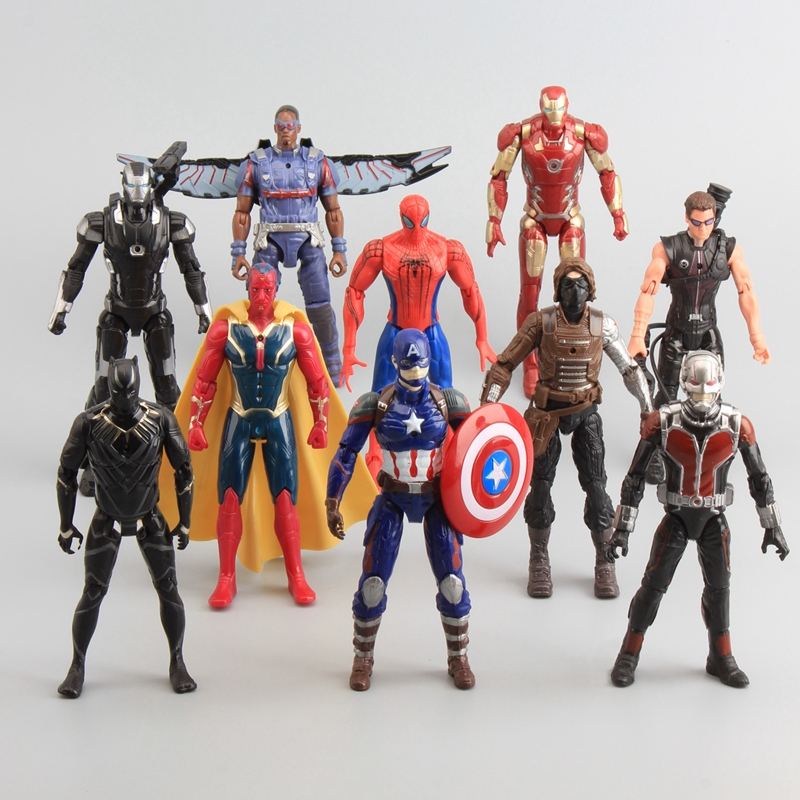 Civil Protection Toys : Captain america civil war avengers pvc action figures iron
