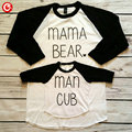 2016 Spring Autumn Matching Family Clothing Outfit Letter Print Long Sleeve T Shirt For Mom And Son Kids Mother Fashion Tees