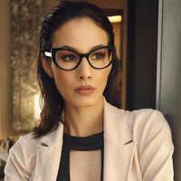Women Cat Eye Design Optical Eyeglasses Prescription Acetate Rim Spectacles for Big Rim Glasses Frame Fashion Styles 93307
