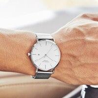 Relógios masculinos marca superior de luxo casual à prova dwaterproof água aço inoxidável hodinky erkek kol saati relógios sem caixa|Relógios de quartzo|Relógios -