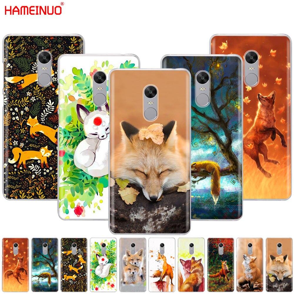 Galleria fotografica HAMEINUO Carino Fox In foglie di Autunno foresta Cassa del telefono Copertura per <font><b>Xiaomi</b></font> <font><b>redmi</b></font> 5 4 1 1 s 2 3 3 s pro PLUS <font><b>redmi</b></font> note 4 4X 4A 5A