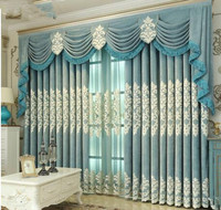 Deluxe living room living room, bedroom, floor window, custom made atmosphere, high grade European embroidery curtains