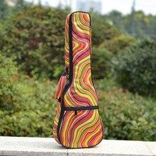 Creative cadeaux 23 24 pouces concert ukulélé petite guitare sac arc-en-couleur motif couverture souple case gig rembourré sac à dos portable