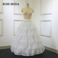 High Quality 4 Hoops Petticoat for Ball Gown Dresses Puffy Underskirt Crinoline for Wedding Dress Elastic Waist