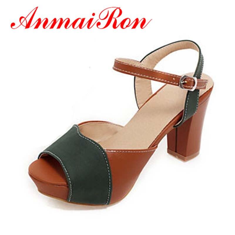 ANMAIRON tamaño 34-43 moda Sandalias Zapatos causales sandalias de  plataforma para las mujeres Talón de vestido de las señoras punta abierta  del verano del ... 1b49d44c518
