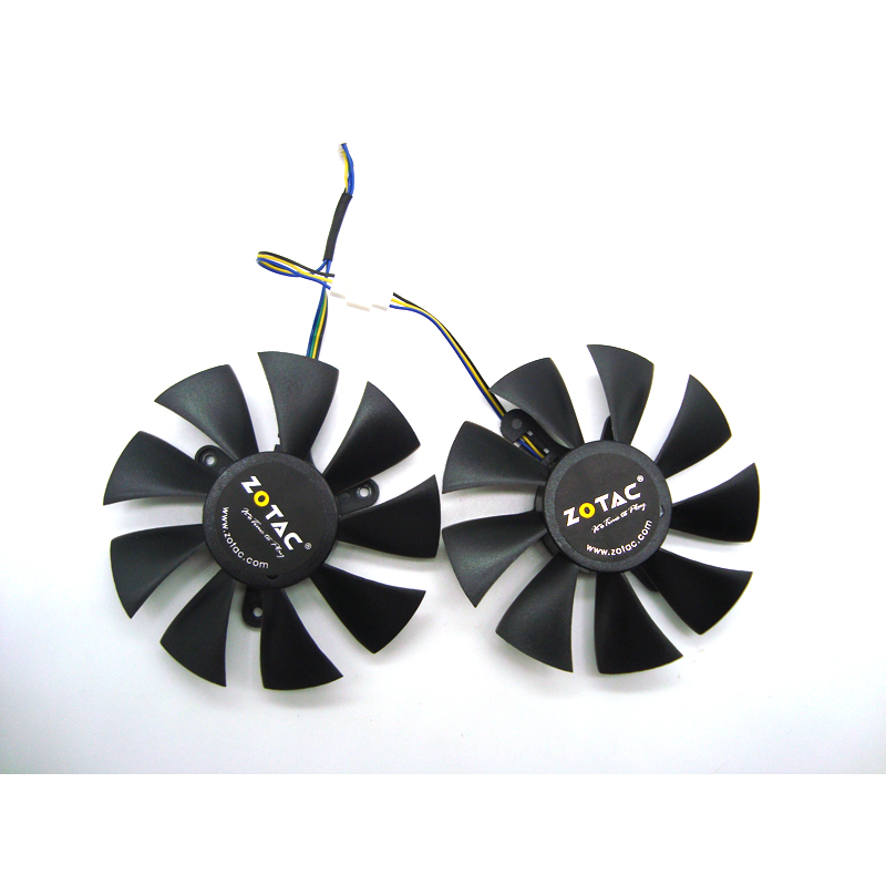 Free Shipping 85mm GA91S2H GFY09010E12SPA 4Pin VGA Cooler Fan Replace For ZOTAC AMP <font><b>1060</b></font> 6 GB <font><b>GTX</b></font> 1070 <font><b>Mini</b></font> Graphics Card Coolin image