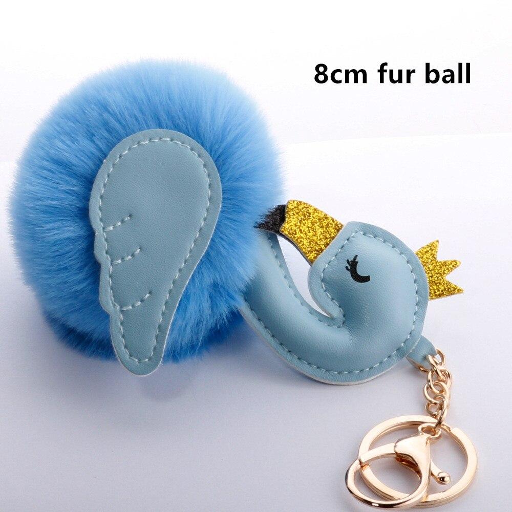 Baby Toy Fur Ball Key Chain Girl Women Bag Pendant  5