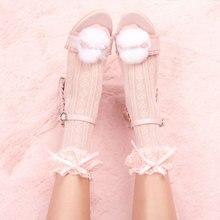 Носки до середины икры в японском стиле; носки без пятки с кружевным бантом в стиле Лолиты; носки для девочек в стиле аниме; jk; носки для студентов