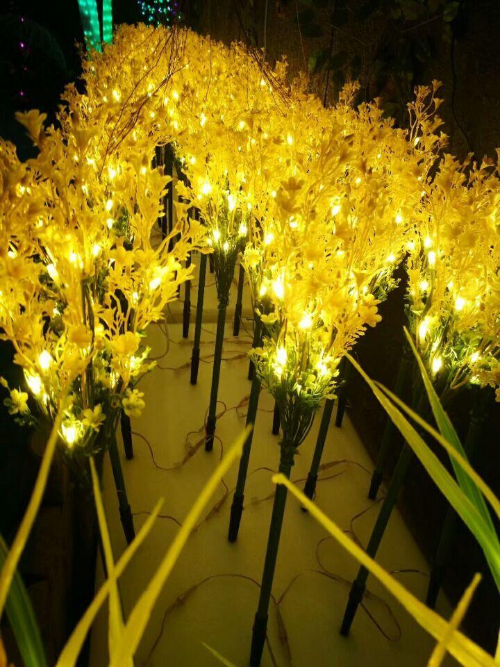 70CM 27.5 LED lighted plant Rape golden light Indoor outdoor Christmas Party Wedding garden patio manor villa lawn Decor