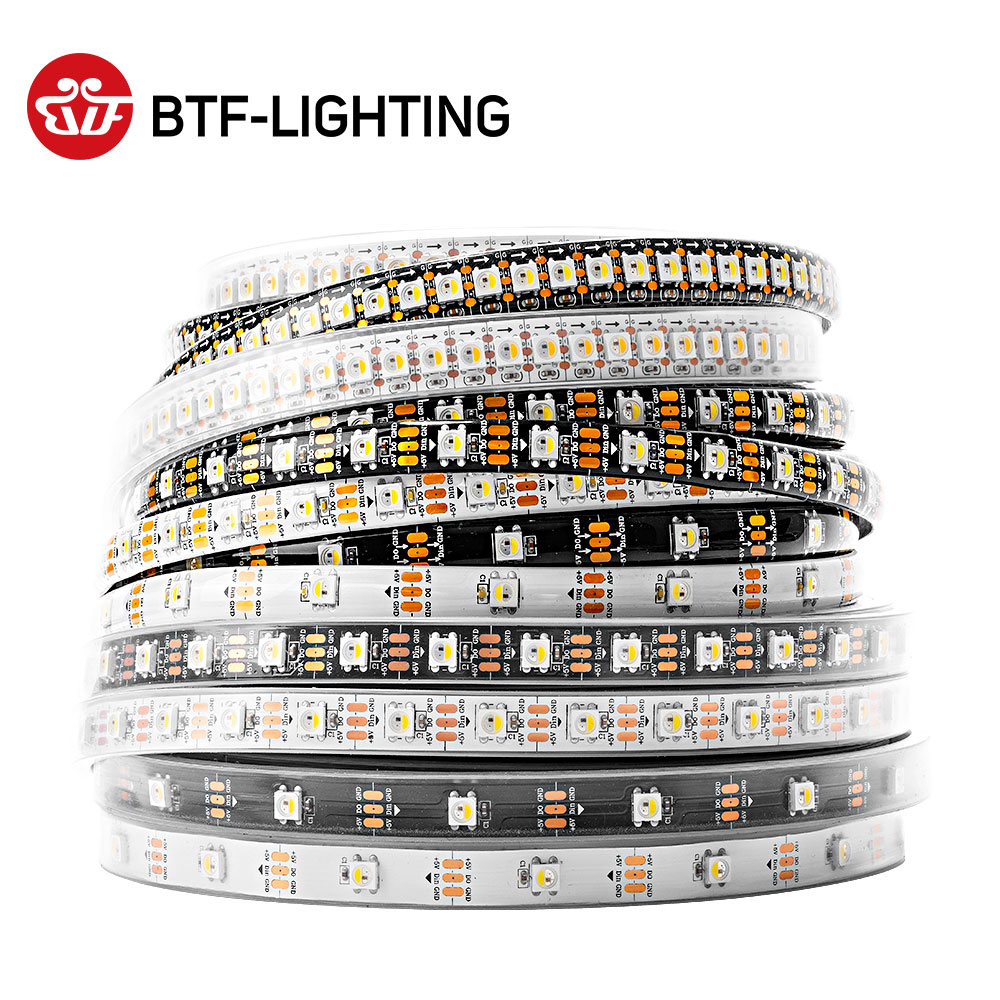 Светодиодная ленсветильник 4 в 1 SK6812 RGBW, аналогичная WS2812B, 1 м, 4 м, 5 м, 30, 60, 144 светодиодов s, индивидуальная Адресуемая Светодиодная лента RGBWW s ...