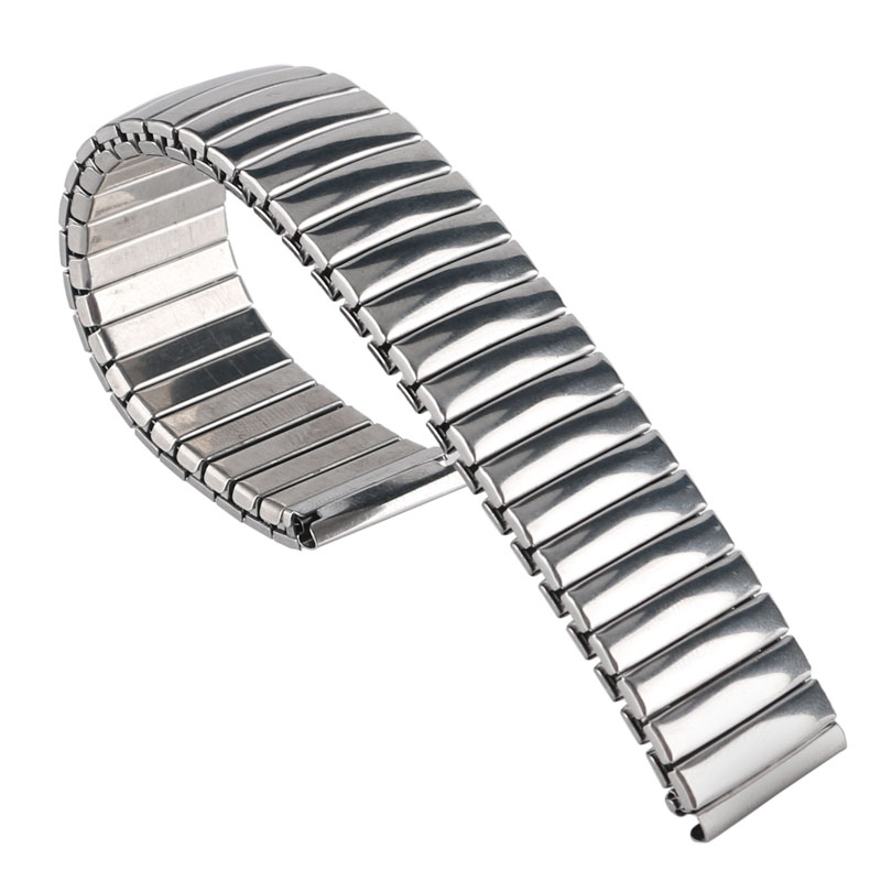 Wire Bands: 18mm Silver Watch Band Strap High Quality Stainless Steel