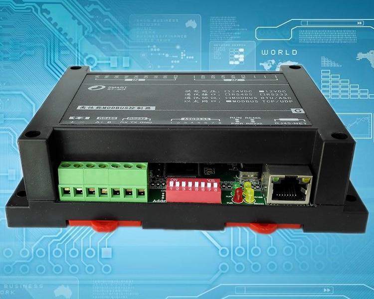 все цены на 8DI 4 Way AO Analog 0-10V 4-20mA Output RJ45 Ethernet Module Modbus Communication Protocol