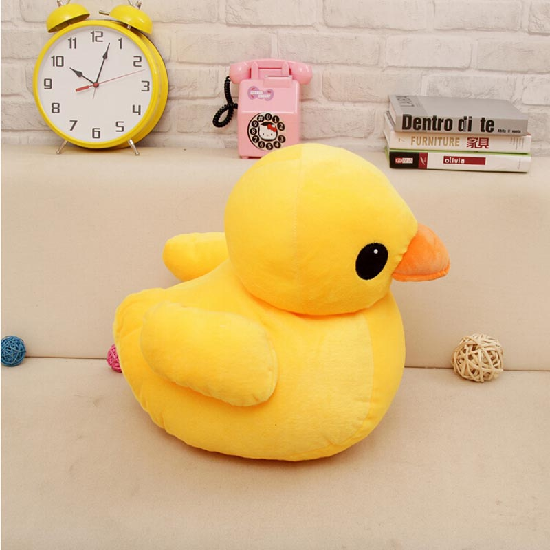 Free shipping 50cm Big Yellow Duck Toy Stuffed Giant Animals Plush Toy,Cute Yellow Duck Doll Kids Toy Birthday Gift Baby Doll 1pcs 50cm stuffed dolls rubber duck hongkong big yellow duck plush toys hot sale best gift for kids girl
