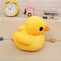 Free shipping 50cm Big Yellow Duck Toy Stuffed Giant Animals Plush Toy,Cute Yellow Duck Doll Kids Toy Birthday Gift Baby Doll