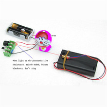 DIY Kits Infrared Laser Line Aimed Shoot Anti theft Alarm Module Science Experiment Electronic Production Kit Suite