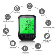 цена на Waterproof Digital Bicycle Speedometer LCD Cycle Bike Computer Odometer Speedometer Cycling Transmitter Sensor Bike Accessories