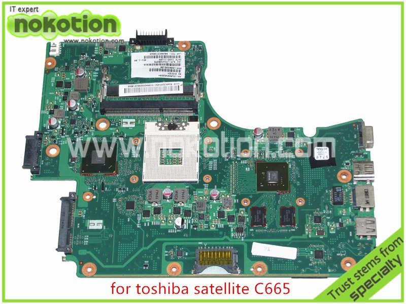 NOKOTION SPS V000225180 For toshiba satellite C665 Laptop motherboard Intel HM65 Nvidia GeForce GT315M nokotion laptop motherboard for toshiba satellite a300 a300d v000125610 intel gm965 integrated gma 4500mhd ddr2