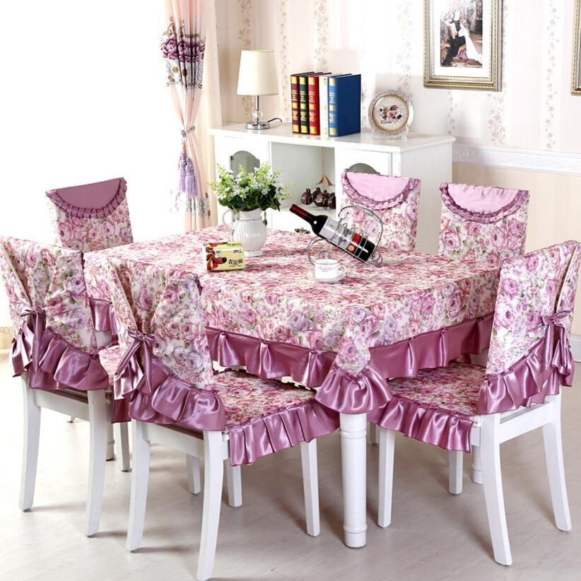Purple Coffee 13 Pcs Set Wedding Tableclothes Luxury