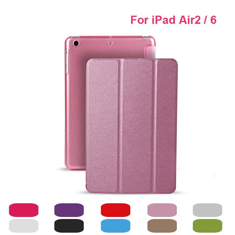 Лидер продаж кожаный чехол подставка для iPad Air 2 с Авто Wake Up/сна Функция крышка смарт Чехол для Apple iPad 6