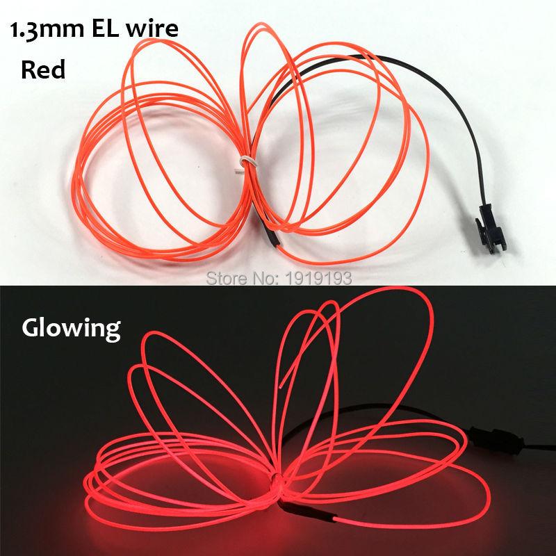 1,3mm 1 25 meter el draht glühenden 10 farbe wahl led streifen neon ...