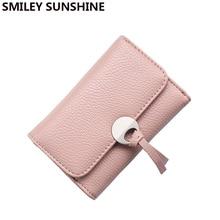 SMILEY SUNSHINE brand women wallets female handy small wallet ladies money coin purses korean mini wallet and purses portfolio