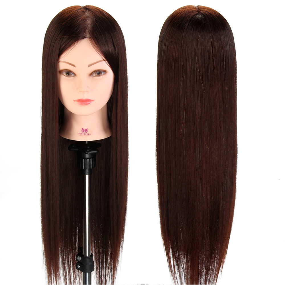 us $22.35 35% off|female training head hairdressing practice head 50% real animal hair head doll salon training mannequin hairstyle modle + clamp on