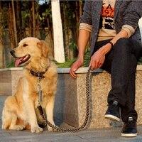 Top Chất Lượng Da/Da Bò Pet Dog Chì 110 cm Dài Cho Con Chó Kích Thước Lớn Leash Rope Thời Trang Có Thể Điều Chỉnh Dog Collar & Harness Leash
