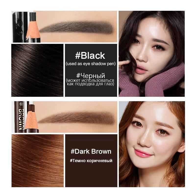 10pcs/set 5colors Available Eyebrow Pencil Shadows Cosmetics for Makeup Tint Waterproof Microblading Pen Eye Brow Natural Beauty 2