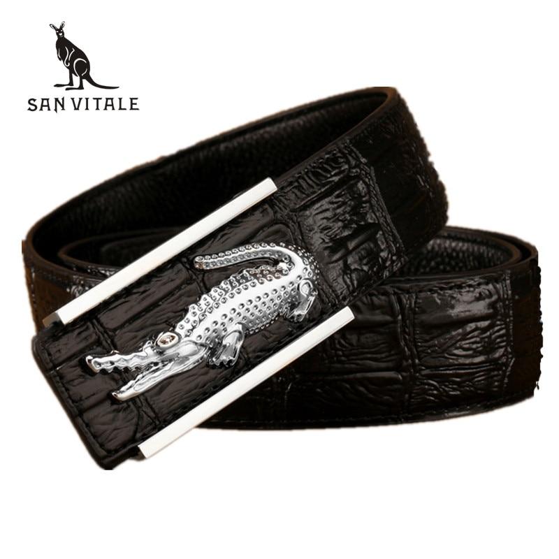 Leather crocodile model of commercial crime belt designer ...