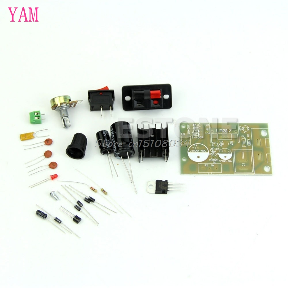 <font><b>AC</b></font>/<font><b>DC</b></font> Input 5V-35V to 1.25V-<font><b>30V</b></font> Step Down Power Supply Module LM317 DIY Kit S08 Wholesale&DropShip image