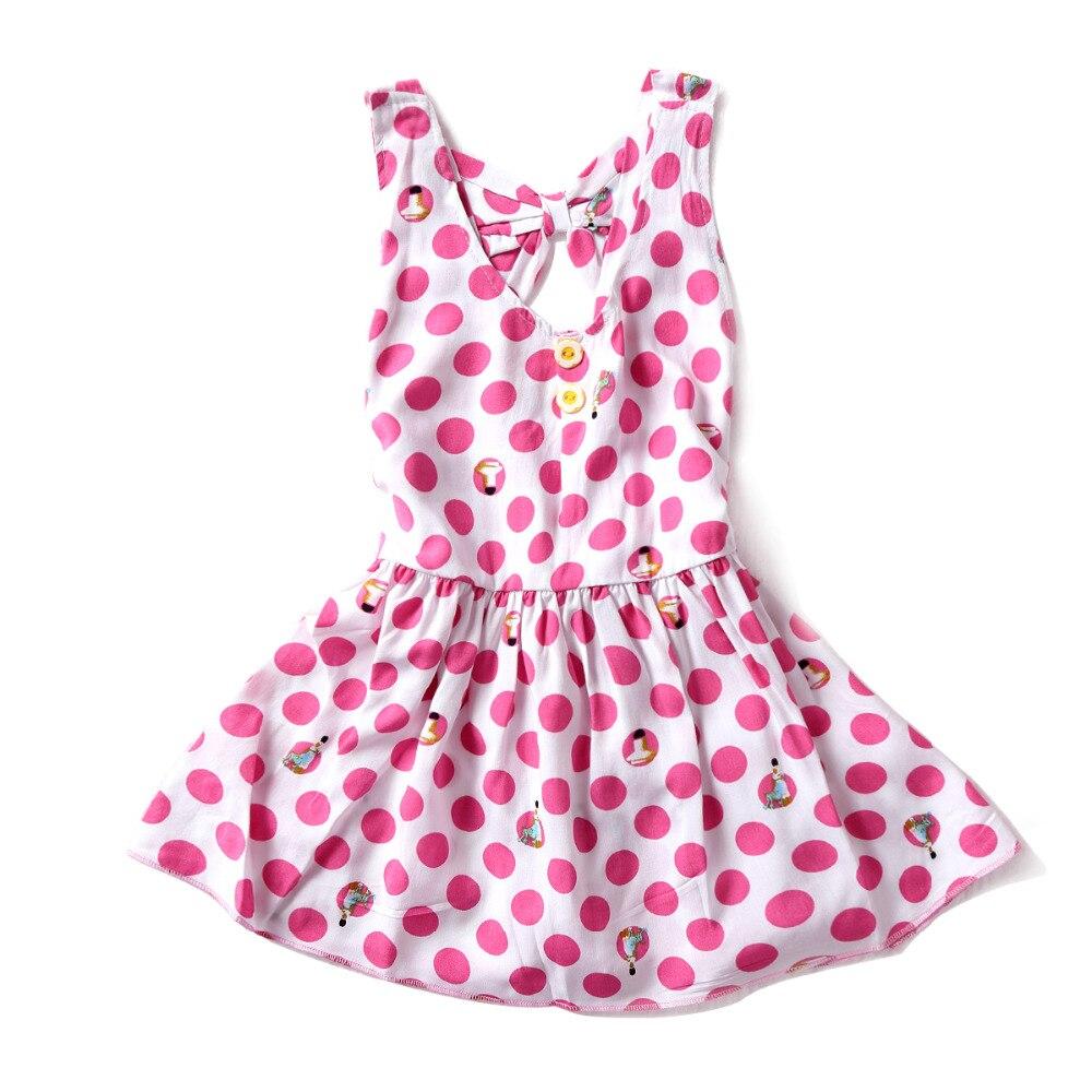 Obleke za dekleta poletne luštne obleke za malčke rešetke 2-5 let Little Baby Girls natisnjene cvetke Princess Dress oblačila za otroke