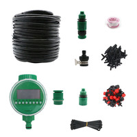 25m Automatic Drip Irrigation Set Garden Flower Water Timer Watering Kit With Built in
