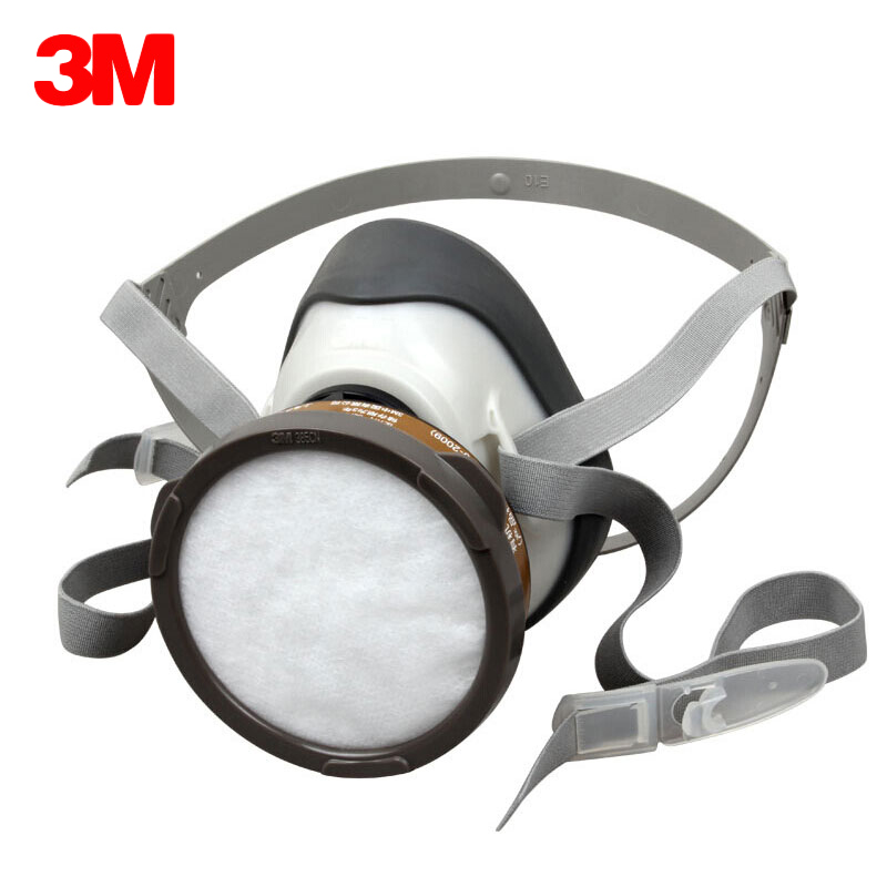 3M 1201 Gas Mask Chemical Respirator Against Organic Gas and Steam Filtration Spray Paint Chemical Pesticide Respirators Mask комплект crown cmmk 952w черный usb cm000001477