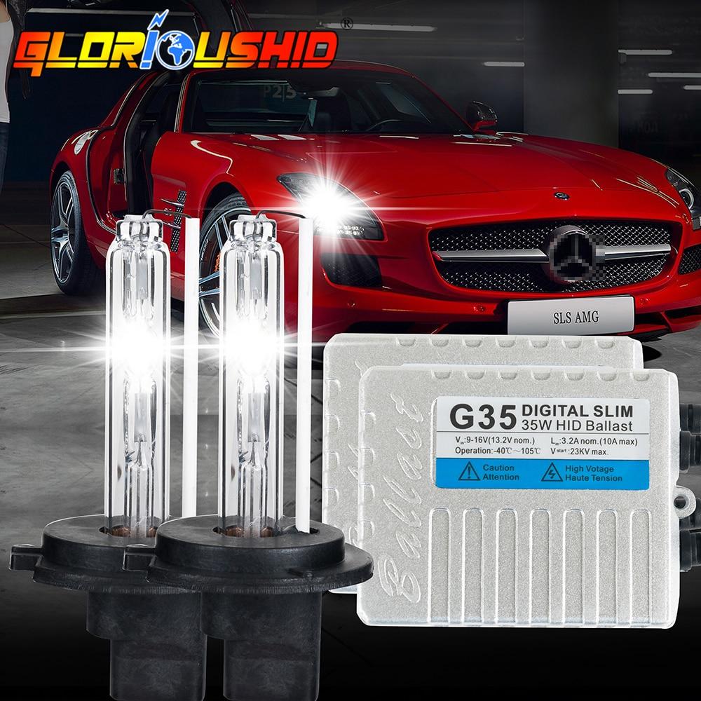 все цены на One set h7 xenon lamp G35 35W slim ballast HID KIT H1 H3 H4 H11 9005 9006 Headlight Bulb HID xenon KIT 4300K 6000K 8000K 10000K онлайн