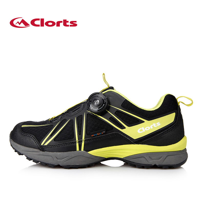 ФОТО Clorts Men BOA Trekking Shoes PU Mesh Hiking Shoes Anti-abrasion Breathable Outdoor Shoes 3D027A