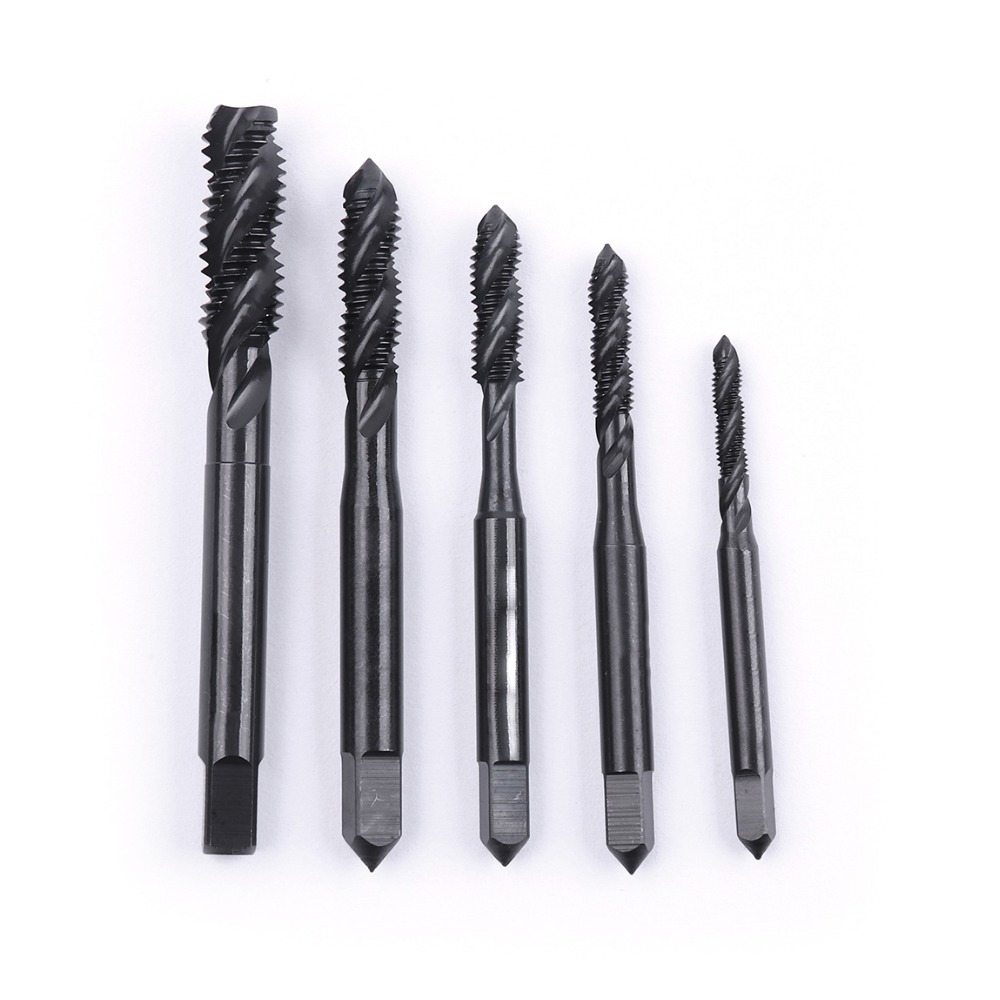 M3/M4/M5/M6/M8 HSS Nitriding Coated Metric Spiral Flute Taps Machine & Manual Screw Thread Taps For Metal Wood Plastic Tapping