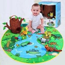 Детское одеяло комплект Дети Мальчики Девочки игровой коврик комнате пол пастбища младенческой детский коврик с животными щенков рано Eudcation подарки