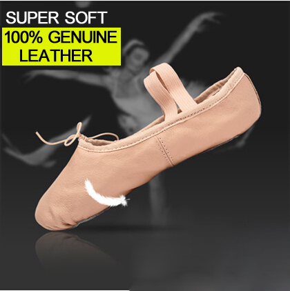 лучшая цена Professional Ballet Slippers Genuine Leather Soft Ballet Dance Shoes Optional Soles For Girls Child And Women Dancing Shoes