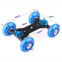 Newest Desktop Flexible Rail Rolling Track Slider Skater Table Dolly Car For Speedlite DSLR Camera Camcorder