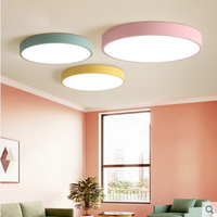 T Modern New Lovely Sweety Circular Creative Ceiling Light For Children S Room Colorful Lamps Bedroom