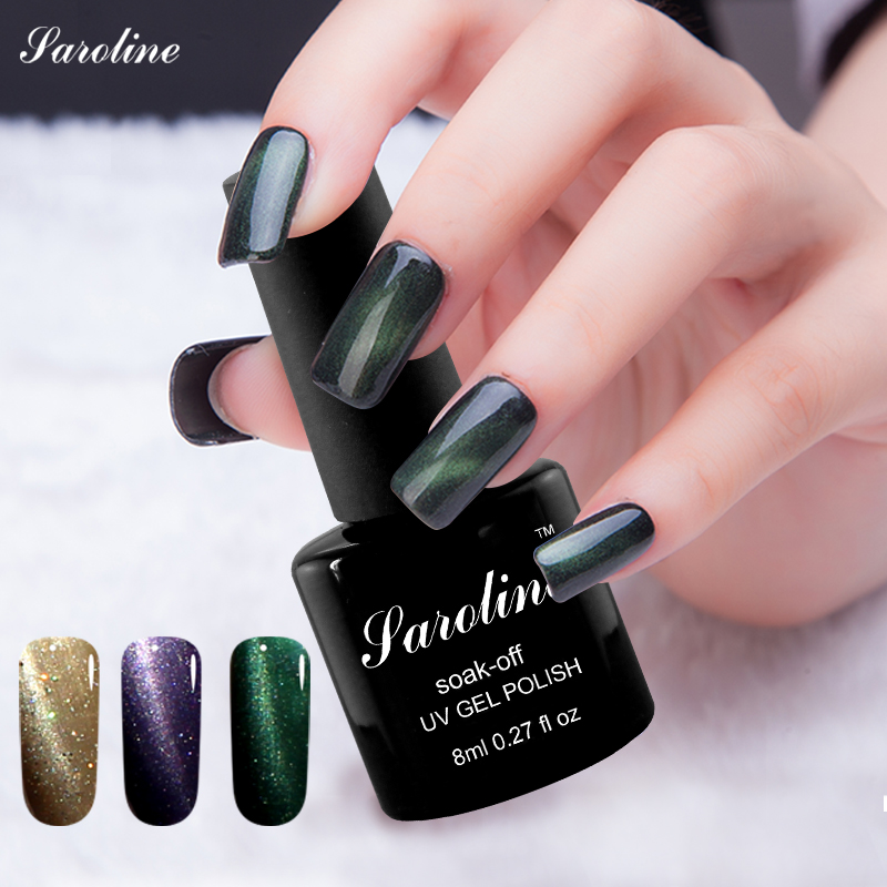 Saroline UV LED font b Gel b font 3d Cat Eye font b Gel b font