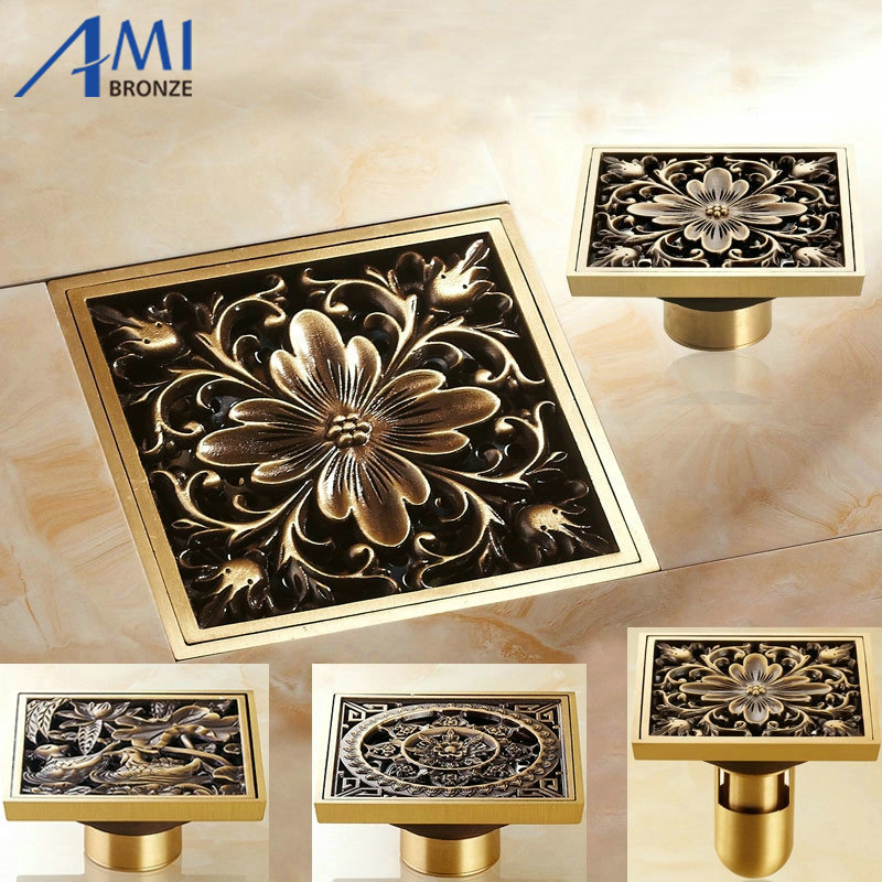 Aliexpress Com Buy 10x10cm Brass Antique Brushed Floor