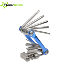 ROCKBROS 11in1 Cycling Bike Bicycle multi-functional Mini Repair Folding Tools Sets Kit Tools Wrench Screwdriver Chain Cutter