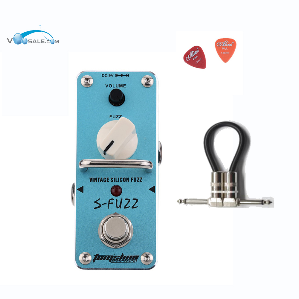 Aroma ASF-3 S-Fuzz Vintage Silicon Guitar Effect Pedal Mini Single with True Bypass Pedals Full Metal Shell Guitar + Free Cable amo 3 mario bit crusher electric guitar effect pedal aroma mini digital pedals full metal shell with true bypass