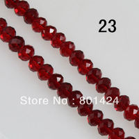 5040 AAA Top Quality Garnet Red Color Loose Crystal Rondelle Beads 6mm 8mm 10mm Free Shipping