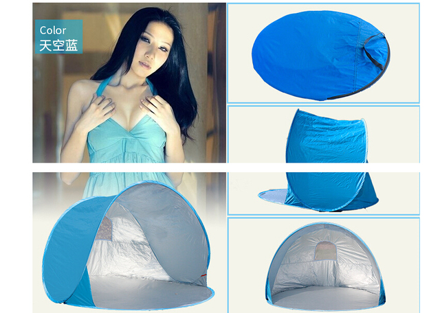 Automatic Pop Up 2 Person Beach UV sun shelter shade Outdoor Camping Tourism Folding Awnings Fishing waterproof tent