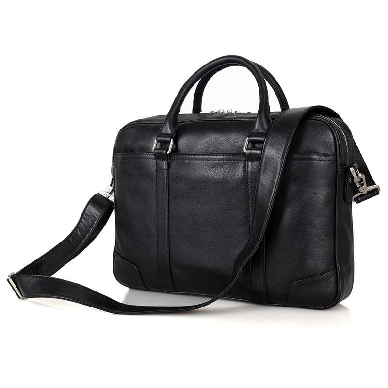 Nesitu Promotion Black Real Genuine Leather Office Men Briefcase Male Portfolio 14 Laptop Business Man Messenger