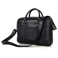 Nesitu Promotion Black Real Genuine Leather Office Men Briefcase Male Portfolio 14'' Laptop Business Man Messenger Bag M7349