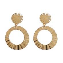 Europe and the United States fashion punk female metal geometric irregular round earrings wholesale ladies jewelry gift